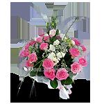 Букет розовых и белых цветов