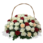 Поздравительная корзина цветов