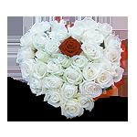Букет цветов - сердце
